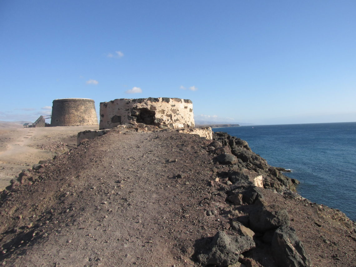 Castillo del Tostón, a small watchtower in El Cotillo (Fuerteventura).