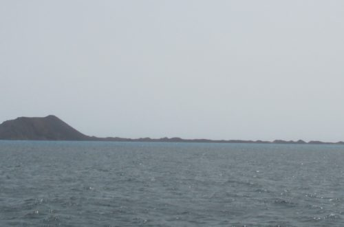 Lobos island, a small island between Fuertevantura and Lanzarote. Isla de Lobos.