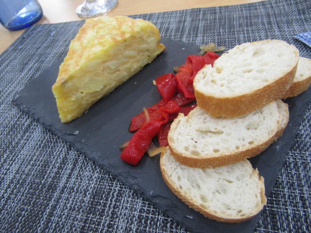 tortilla con queso de cabra